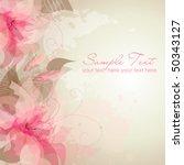 Stock vector romantic flower background 50343127