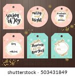 set of christmas gift tags with ... | Shutterstock .eps vector #503431849