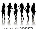 illustration of fashion female...   Shutterstock .eps vector #503433574