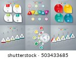 set with infographics. data and ... | Shutterstock .eps vector #503433685