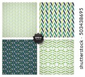 set of 4 popular geometric... | Shutterstock .eps vector #503438695