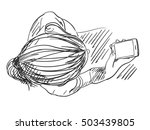 girl with smart phone view from ...   Shutterstock .eps vector #503439805