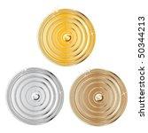 award set   vector medals   Shutterstock .eps vector #50344213
