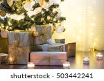 tall christmas tree ... | Shutterstock . vector #503442241