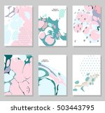 collection of creative trendy...   Shutterstock .eps vector #503443795
