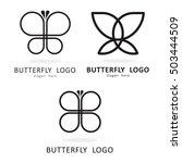 beauty butterfly logo icon... | Shutterstock .eps vector #503444509