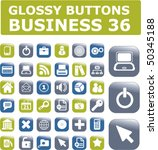 36 glossy business buttons.... | Shutterstock .eps vector #50345188