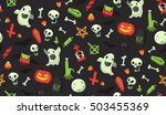 bright cartoon halloween... | Shutterstock .eps vector #503455369