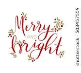 vector christmas hand lettering ... | Shutterstock .eps vector #503457559