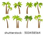 palm trees isolated on white...