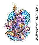 hand drawn asian spiritual... | Shutterstock .eps vector #503461399