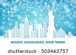 merry christmas in nyc | Shutterstock .eps vector #503463757