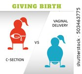 giving birth  vaginal delivery... | Shutterstock .eps vector #503463775