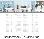 business people working in the... | Shutterstock .eps vector #503464705
