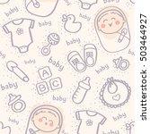 seamless pattern of cute... | Shutterstock .eps vector #503464927