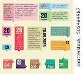 infographic templates for... | Shutterstock .eps vector #503464987