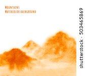orange mountains  hand drawn... | Shutterstock . vector #503465869
