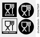 food grade plastic symbol | Shutterstock .eps vector #503467069