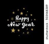 christmas calligraphy.... | Shutterstock .eps vector #503468389