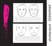 set face chart makeup artist... | Shutterstock .eps vector #503469469