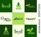 vector set of design elements... | Shutterstock .eps vector #503471101