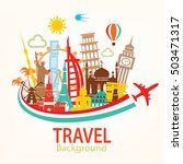 world travel background ... | Shutterstock .eps vector #503471317