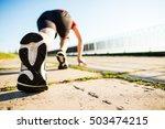 marathon run shoe. outdoor...   Shutterstock . vector #503474215