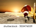 santa claus and plane  | Shutterstock . vector #503476039