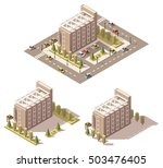 vector isometric low poly hotel | Shutterstock .eps vector #503476405