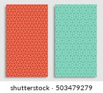 seamless backgrounds set with... | Shutterstock .eps vector #503479279