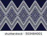 geometric ethnic pattern design ... | Shutterstock .eps vector #503484001