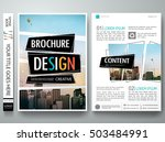 brochure design template vector.... | Shutterstock .eps vector #503484991