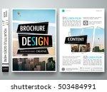 brochure design template vector.... | Shutterstock .eps vector #503484991