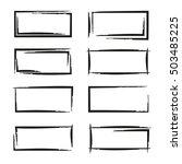 black grunge frame set   Shutterstock .eps vector #503485225