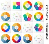 vector circle infographic set.... | Shutterstock .eps vector #503492515