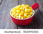 Close Up Of Cooked Sweet Corn...