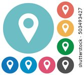 location pin flat white icons... | Shutterstock .eps vector #503493427