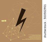 high voltage icon vector... | Shutterstock .eps vector #503502901