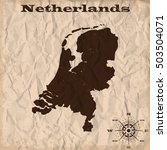 netherlands old map with grunge ... | Shutterstock .eps vector #503504071