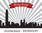 hong kong city skyline with... | Shutterstock .eps vector #503504149