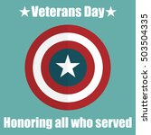 shield with usa veterans day... | Shutterstock .eps vector #503504335