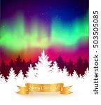 winter landscape background... | Shutterstock .eps vector #503505085