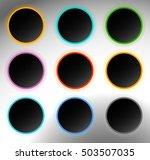 circle buttons  badges. button...