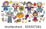 autumn collection   a bogeys ... | Shutterstock .eps vector #503507281