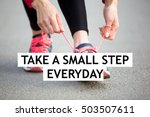 female hands tying shoelace on... | Shutterstock . vector #503507611