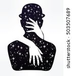 hand drawn beautiful silhouette ... | Shutterstock .eps vector #503507689