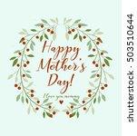 "beautiful ""happy mother's day""...   Shutterstock .eps vector #503510644"