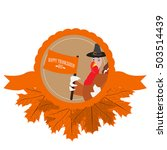 isolated label with a turkey... | Shutterstock .eps vector #503514439