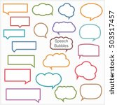 set of different speech bubbles