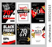 set of mobile sale banners.... | Shutterstock .eps vector #503521015